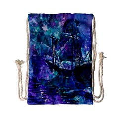 Abstract Ship Water Scape Ocean Drawstring Bag (small)