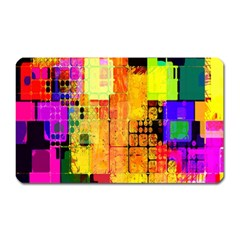 Abstract Squares Background Pattern Magnet (rectangular)