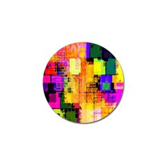 Abstract Squares Background Pattern Golf Ball Marker (4 Pack)