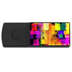 Abstract Squares Background Pattern USB Flash Drive Rectangular (2 GB)