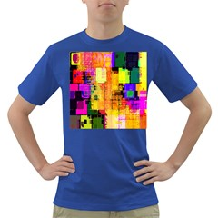 Abstract Squares Background Pattern Dark T-Shirt