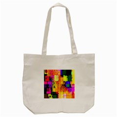 Abstract Squares Background Pattern Tote Bag (cream)