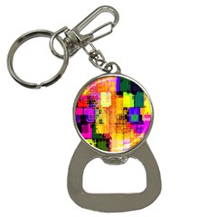 Abstract Squares Background Pattern Button Necklaces