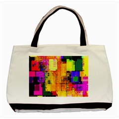 Abstract Squares Background Pattern Basic Tote Bag