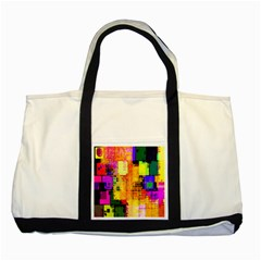 Abstract Squares Background Pattern Two Tone Tote Bag