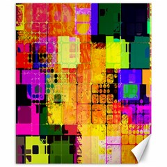 Abstract Squares Background Pattern Canvas 8  x 10
