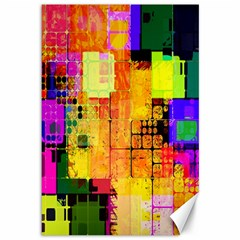 Abstract Squares Background Pattern Canvas 12  x 18