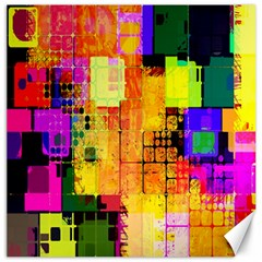 Abstract Squares Background Pattern Canvas 16  x 16