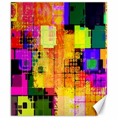Abstract Squares Background Pattern Canvas 20  X 24