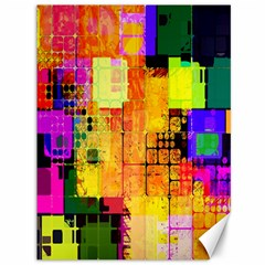 Abstract Squares Background Pattern Canvas 36  x 48