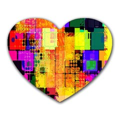 Abstract Squares Background Pattern Heart Mousepads