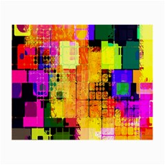 Abstract Squares Background Pattern Small Glasses Cloth (2-Side)