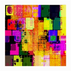 Abstract Squares Background Pattern Medium Glasses Cloth (2-Side)