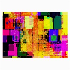 Abstract Squares Background Pattern Large Glasses Cloth