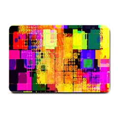 Abstract Squares Background Pattern Small Doormat