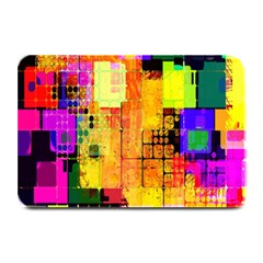 Abstract Squares Background Pattern Plate Mats