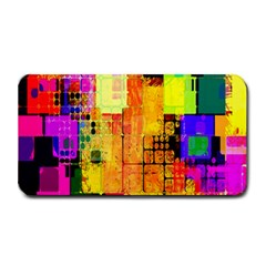 Abstract Squares Background Pattern Medium Bar Mats