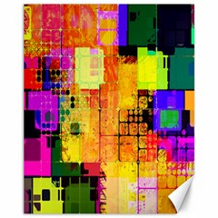Abstract Squares Background Pattern Canvas 11  x 14