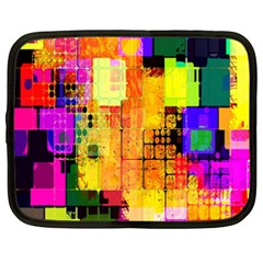 Abstract Squares Background Pattern Netbook Case (Large)