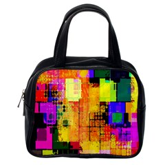 Abstract Squares Background Pattern Classic Handbags (one Side)