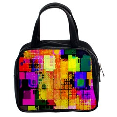 Abstract Squares Background Pattern Classic Handbags (2 Sides)