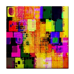 Abstract Squares Background Pattern Face Towel