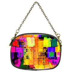 Abstract Squares Background Pattern Chain Purses (Two Sides)