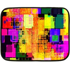 Abstract Squares Background Pattern Fleece Blanket (mini)