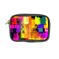 Abstract Squares Background Pattern Coin Purse