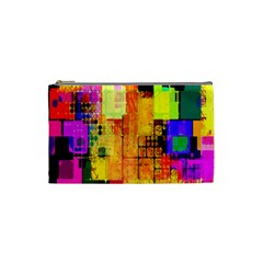 Abstract Squares Background Pattern Cosmetic Bag (Small)