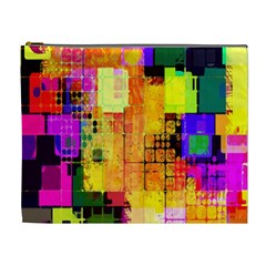 Abstract Squares Background Pattern Cosmetic Bag (XL)