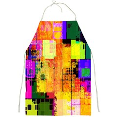 Abstract Squares Background Pattern Full Print Aprons