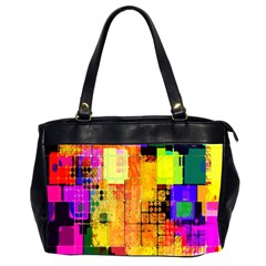 Abstract Squares Background Pattern Office Handbags (2 Sides)