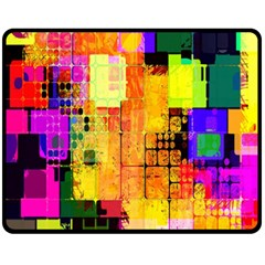 Abstract Squares Background Pattern Fleece Blanket (Medium)