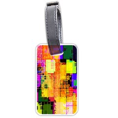 Abstract Squares Background Pattern Luggage Tags (Two Sides)