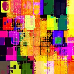 Abstract Squares Background Pattern Magic Photo Cubes