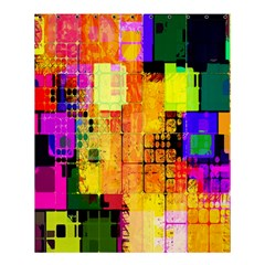 Abstract Squares Background Pattern Shower Curtain 60  x 72  (Medium)