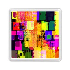 Abstract Squares Background Pattern Memory Card Reader (Square)
