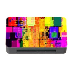 Abstract Squares Background Pattern Memory Card Reader with CF