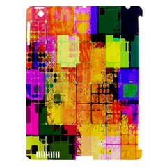 Abstract Squares Background Pattern Apple iPad 3/4 Hardshell Case (Compatible with Smart Cover)