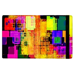 Abstract Squares Background Pattern Apple iPad 3/4 Flip Case