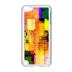 Abstract Squares Background Pattern Apple Ipod Touch 5 Case (white)