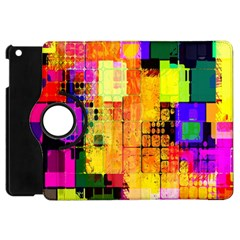 Abstract Squares Background Pattern Apple Ipad Mini Flip 360 Case