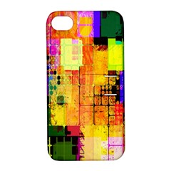 Abstract Squares Background Pattern Apple Iphone 4/4s Hardshell Case With Stand