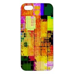 Abstract Squares Background Pattern Apple Iphone 5 Premium Hardshell Case