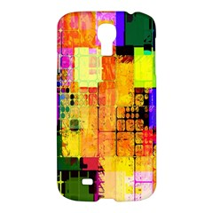 Abstract Squares Background Pattern Samsung Galaxy S4 I9500/i9505 Hardshell Case