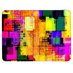 Abstract Squares Background Pattern Samsung Galaxy Tab 7  P1000 Flip Case