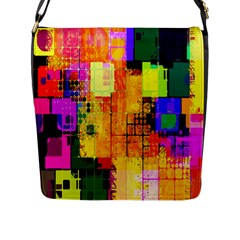 Abstract Squares Background Pattern Flap Messenger Bag (L)