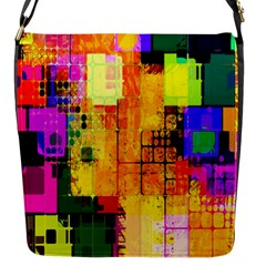Abstract Squares Background Pattern Flap Messenger Bag (S)
