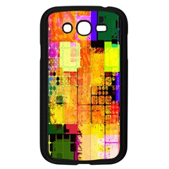 Abstract Squares Background Pattern Samsung Galaxy Grand DUOS I9082 Case (Black)